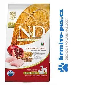N&D LG DOG Senior S/M Chicken & Pomegr 800g