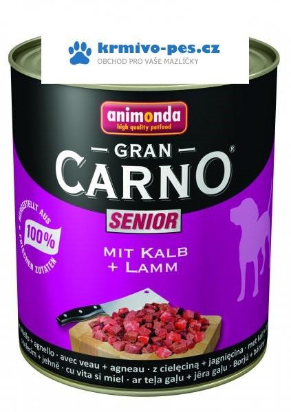 Animonda GRANCARNO konz. SENIOR telecí/jehněčí maso 800g