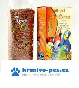 Krmivo pro papoušky velké MULTIEXTRA extrudované 1kg