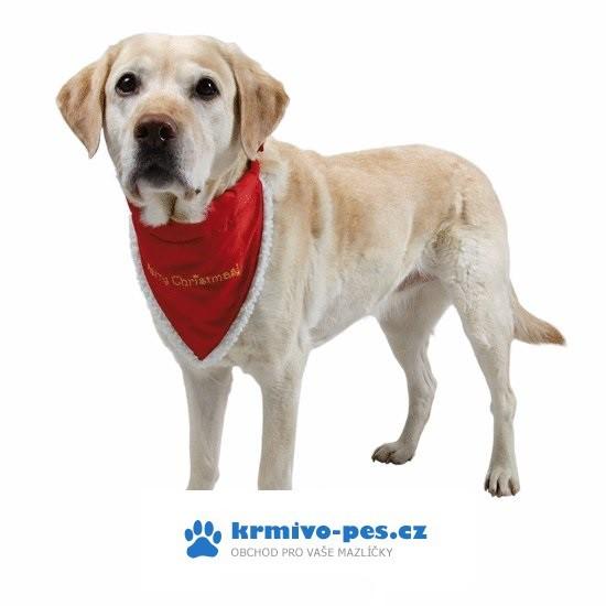 Vánoční šátek pro psa 45-55cm/20mm M-L TR