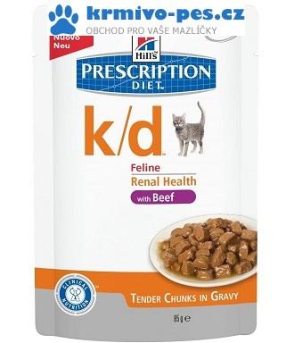 Hill's Feline K/D kapsička Beef 12 x 85 g