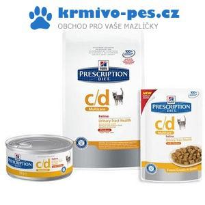 Hill's Prescription Diet Feline C/D Urinary Stress 4kg + paštika Animonda urinary (dieta) 100g