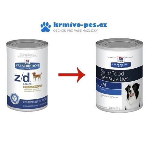 Hills Canine z/d Ultra Alergen Free (dieta) konzerva 370g