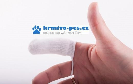 Petosan zubní kartáček na prst pro psy, mikrovlákno