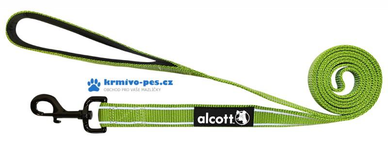 Vodítko Alcott reflexní zelená M 183cm/20mm