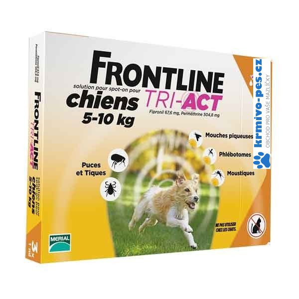 Frontline Tri-Act pro psy Spot-on S (5-10 kg) 1 pipeta
