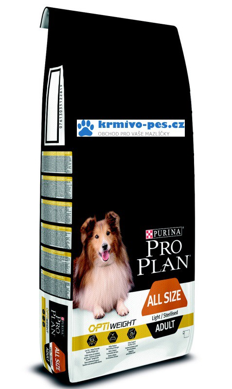 ProPlan Optiweight Dog All Sizes Adult Light/Sterilized 14kg