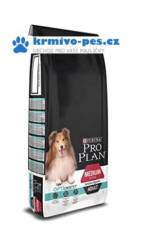 PRO PLAN Dog Adult Medium Sens.Digestion 14+2,5 kg zdarma