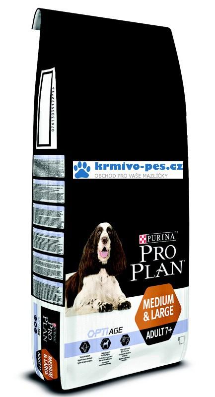 ProPlan OptiAge Dog Adult 7+ Medium Large 14kg