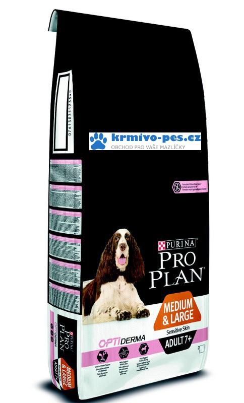 ProPlan Optiderma Dog Adult Medium&Large 7+ Sensitive Skin 14kg