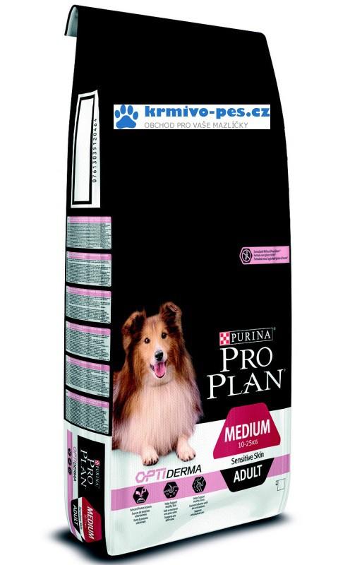 ProPlan Optiderma Dog Adult Medium Sensitive Skin 14kg + 2,5kg zdarma